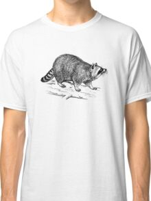 Raccoon drawing Classic T-Shirt
