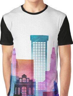 Baltimore Colorful Skyline, Maryland Cityscape Graphic T-Shirt