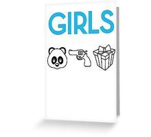GIRLS  Greeting Card