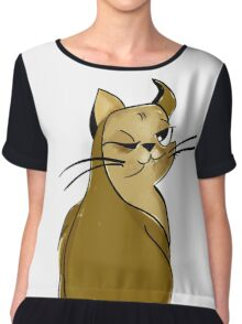cat Kitty show me your kitties cute Cat drawing  Chiffon Top