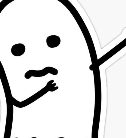 ghost dab Sticker