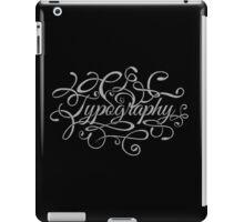 Typography on Typography iPad Case/Skin
