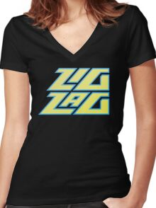 Zig Zag Women's Fitted V-Neck T-Shirt