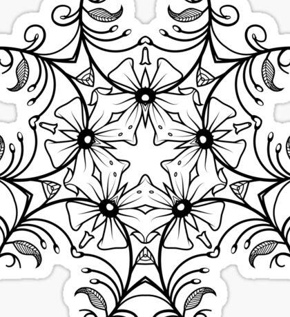 Snowflake Flower Sticker