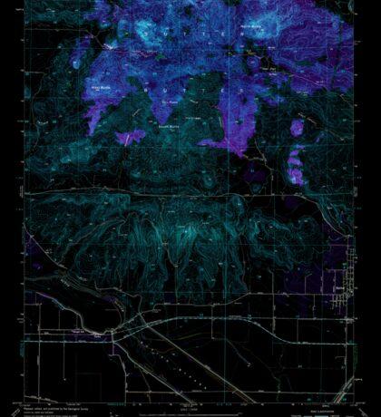 USGS TOPO Map California CA Sutter Buttes 300758 1954 24000 geo Inverted Sticker