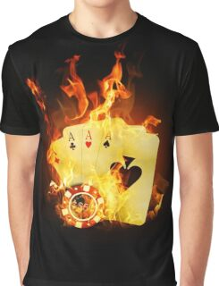 Burning Poker Cards Graphic T-Shirt