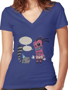 Lecture Women's Fitted V-Neck T-Shirt