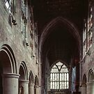 Nave and Altar Malvern Proiry Great Malvern England 198405180061  by Fred Mitchell