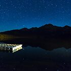 Starry Starry Night Over Pyramid Lake and Pyramid Mountain by Jim Stiles