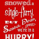It Hasn't Snowed a Single Flurry - Red by Patricia Lupien