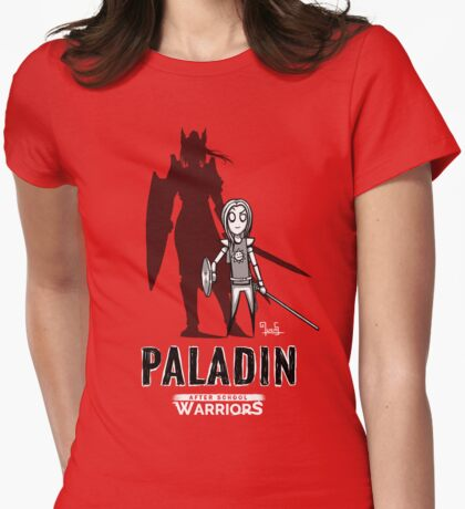 AFTER SCHOOL WARRIORS: PALADIN Womens Fitted T-Shirt