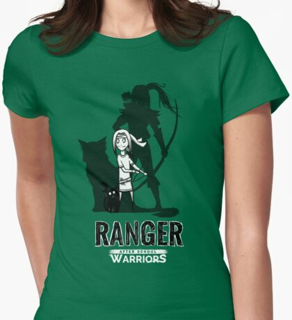 AFTER SCHOOL WARRIORS: RANGER Womens Fitted T-Shirt