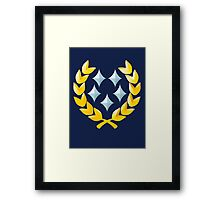 Halo General Rank Framed Print