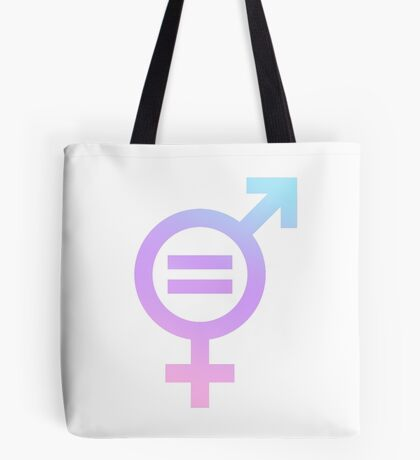Gender Equality - ombre pink purple blue Tote Bag