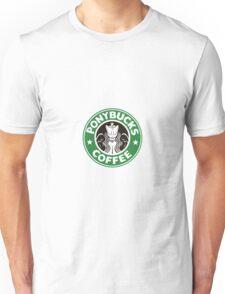 Pony bucks coffee logo Unisex T-Shirt