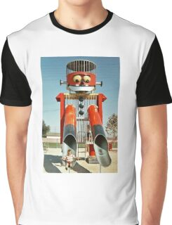 Robot slide, retro 1970's Graphic T-Shirt