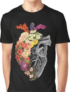 Flower Heart Spring Graphic T-Shirt