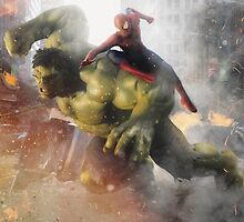 Marvel Team-Up: Hulk & Spider Man by dmorson