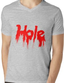HOLE Mens V-Neck T-Shirt