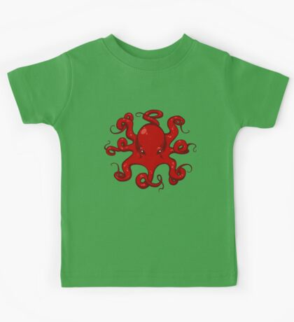 Red Octopus Kids Tee