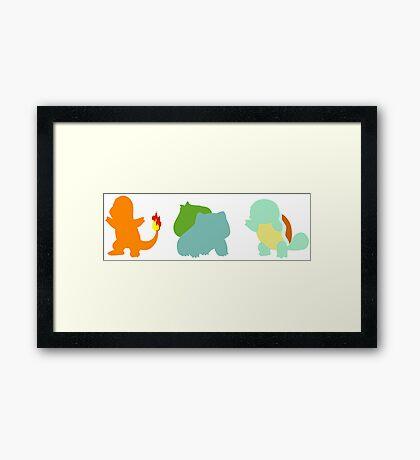 Kanto starters Framed Print