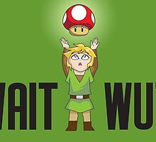 Zelda/Mario - Wait WUT by littlebearart