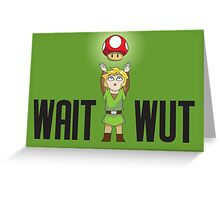 Zelda/Mario - Wait WUT Greeting Card