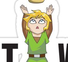 Zelda/Mario - Wait WUT Sticker