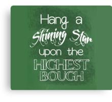 Hang a Shining Star Christmas Typography Canvas Print