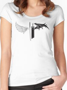 Final Fantasy VII - One Winged Angels Women's Fitted Scoop T-Shirt