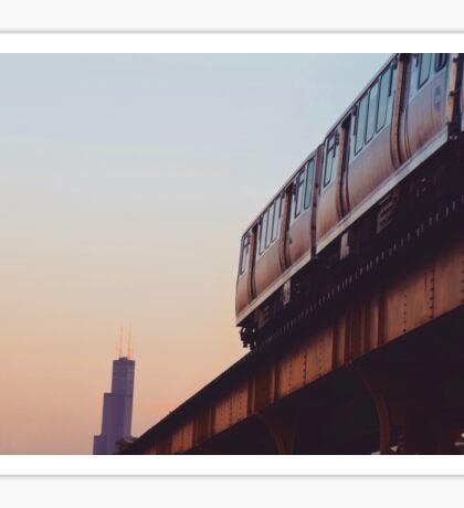 Chicago L Train Sticker