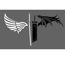 Final Fantasy VII - One Winged Angels on dark Photographic Print