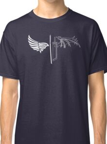 Final Fantasy VII - One Winged Angels on dark Classic T-Shirt