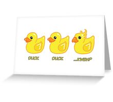Final Fantasy - Duck Duck ...Kweh? Greeting Card