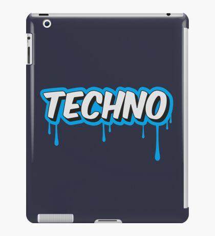 TECHNO - PARTY - RAVE - EDM iPad Case/Skin