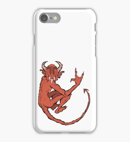 devil (red) iPhone Case/Skin