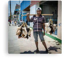 Poultry Vendor Canvas Print