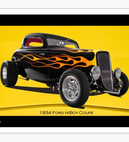 1934 Ford HiBoy Coupe Sticker