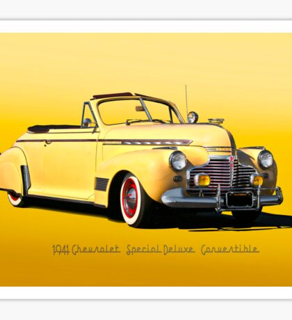 1941 Chevrolet Special Deluxe Convertible II Sticker