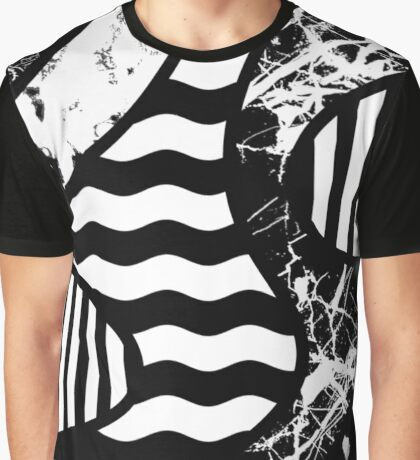 Curvy Contrast Graphic T-Shirt