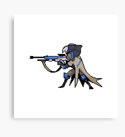 Overwatch-Ana Pixel Spray Canvas Print