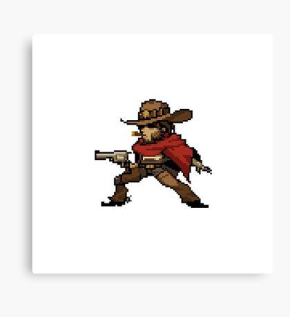 Overwatch-McCree Pixel Spray Canvas Print