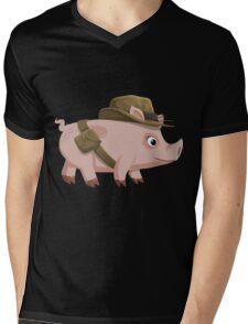 Glitch Inhabitants npc piggy explorer ilmenskie jones Mens V-Neck T-Shirt