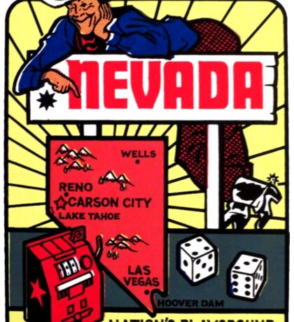 Nevada Map Vintage Travel Decal Sticker
