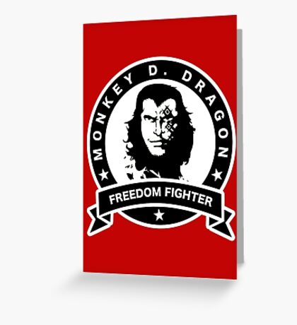 Monkey D. Dragon X Che Greeting Card
