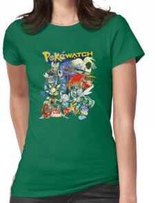 PokeWatch - Your favorite Pokemon dressed as Overwatch Characters Womens Fitted T-Shirt