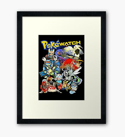 PokeWatch - Your favorite Pokemon dressed as Overwatch Characters Framed Print