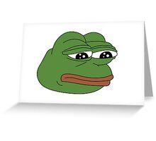 Sad Frog Greeting Card