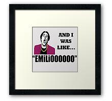EMILIOOOOoooo Framed Print