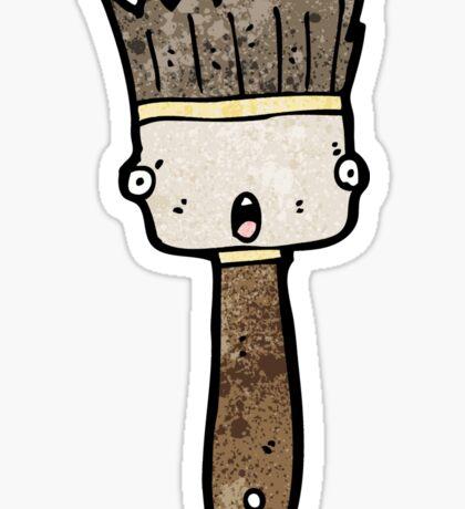 paint brush cartoon Sticker